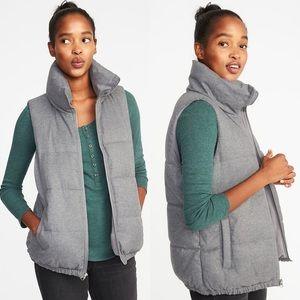 Old Navy Textured Frost Free Puffer Full Zip Vest